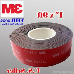 """3M 1"""" x 9 ft  VHB Double Sided Foam Adhesive Tape 5952 Autom"""