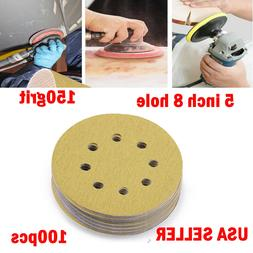 100x 150 Grit Dustless Hook-and-Loop Sanding Disc Orbital Sa