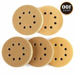 100PCS Sanding Discs, Tacklife 8 Hole Sandpaper for 5 inch R