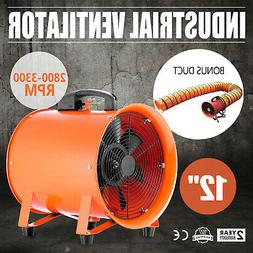 12 Inch Extractor Fan Blower portable 5m Duct Hose Utility H