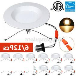 12pcs 5/6 inch 15W LED Trim Dimmable Recessed Downlight, Cei