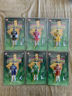 "Bandai 1993 5"" Inch Power Rangers Figures Articulated Arms"