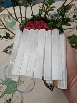 2 Pounds of Selenite Wands Blades Sticks 5 Inch  Wholesale B