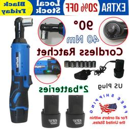 "2 X batteries 12V 3/8"" Inch Cordless Ratchet 40Nm 230 rpm-20"