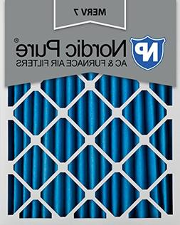 Nordic Pure 20x25x2M7-3 MERV 7 Pleated AC Furnace Air Filter