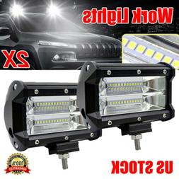 "2PCS 5""Inch 12V 672W LED Work Light Bar Flood Pods Driving O"