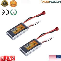 2x 2S 7.4V 1500mAh 35C LiPo Battery Deans for RC Airplane Ca