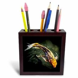 3dRose ph_77236_1 Awesome Koi Fish-Tile Pen Holder, 5-Inch
