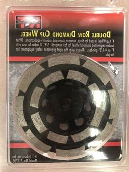"""KT Industries 4"""" Inch Diamond Cup Grinding Wheel, Double R"""