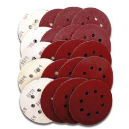 40pc 5 inch red abrasive disc car