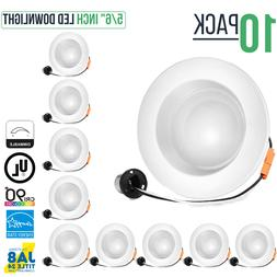 """5/6"""" Inch Dimmable LED Retrofit Recessed Downlight, 15W, 110"""