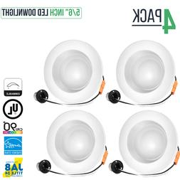 """5/6"""" Inch Dimmable LED Retrofit Recessed Downlight, 15W, 950"""