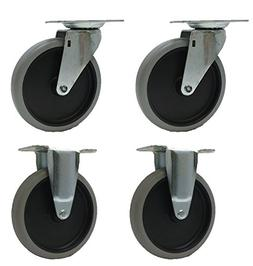 """5"""" Caster Wheels for Rubbermaid Utility Carts 4401 4500 4520"""