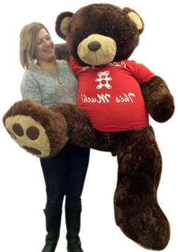 5 Foot Giant Teddy Bear Huge Soft Brown 60 Inch, T-shirt I L