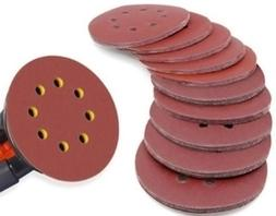 5 Inch 8 hole Hook and Loop Sanding Discs 100 PCS 40/60/80/1