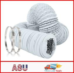 5 inch Air Duct - 32 FT Long, White Flexible Ducting With 2