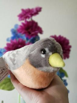 5 Inch American Robin Audubon Bird Stuffed Animal with Sound