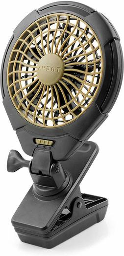 Treva 5 Inch Battery Powered Clip On Fan For Camping, Power