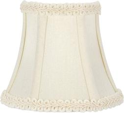 Upgradelights 5 Inch Clip On Chandelier Half Shade In Eggshe