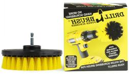 5 Inch Diameter Drill Powered Scrub Brush With Quarter Inch