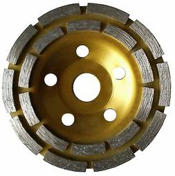 5 inch Double Row Grinding Cup Wheel, NO-Thread, For Concret