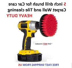 5 inch drill brush for Car care Carpet Wall and Tile cleanin