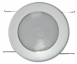 """5"""" INCH RECESSED CAN LIGHT METAL SHOWER TRIM FROSTED MILKY L"""