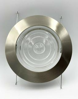 """5"""" Inch Recessed Can Light  Shower Trim Glass Lens Brushed S"""