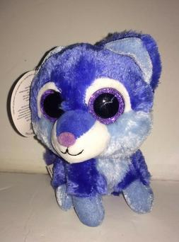 5 Inch Sassy Scents blueberry Blue Snow Leopard Stuffed Anim