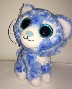 5 Inch Sassy Scents Raspberry Blue Snow Leopard Stuffed Anim
