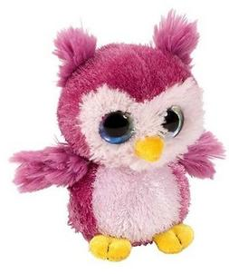 5 Inch Sweet & Sassy Sherbert Pink Owl Plush Stuffed Animal