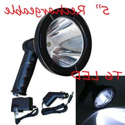 5 Inch T6 CREE LED Spotlight Handheld Fishing Hunting Light
