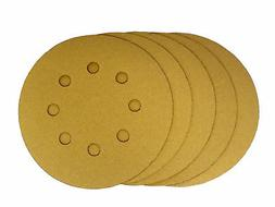 5 Inch X 8 Hole Gold Hook and Loop Grip Sanding Discs