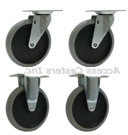 """5SRM45 5"""" Caster Wheels for Rubbermaid® Utility Carts 4401"""