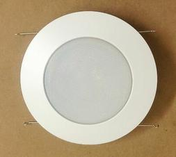 "6"" INCH RECESSED CAN LIGHT SHOWER TRIM FROSTED GLASS ALBALIT"