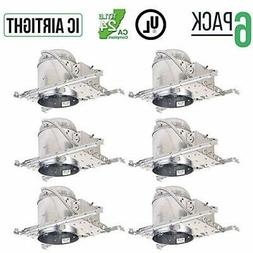 "6 Pack - 5"" Inch LED New Construction Recessed Housing Can L"