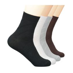 KEN 6 Pairs 100% Cotton Mens Thin Casual Crew Socks Sweat Ab