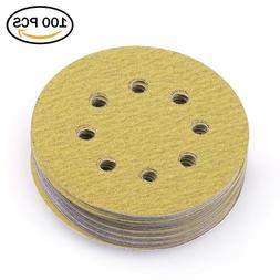 5in 80 Grit Sanding Discs Dustless Sander Sheet Orbital Sand