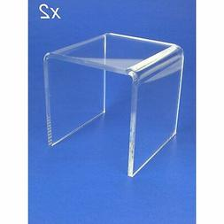 BANBERRY DESIGNS Acrylic Display Stand Risers Premium 5 Inch