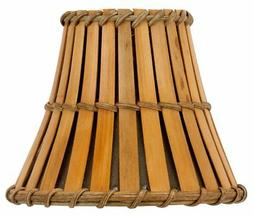 All Natural Bamboo 5 Inch Empire Chandelier Lamp Shade 3x5x4