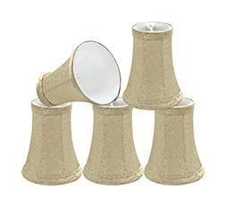 30015-5 Small Bell Shape Chandelier Clip-On Lamp Shade Set ,
