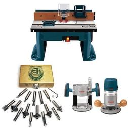 Bosch RA1181 Benchtop Router Table with Router and Bit Set