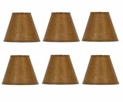 Oiled Parchment Chandelier Lamp Shades Set of Six Shades 5 I