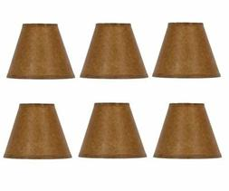 Chandelier Lamp Shades Set of Six Shades 5 Inch Empire Clips