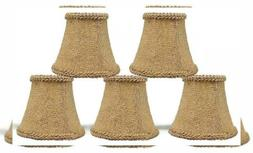 Urbanest Chandelier Mini Lamp Shades 5-inch, Bell, Clip On,
