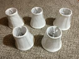Chandelier Mini Lamp Shades ,Clip-on, 4 inch x 4 inch , Whit