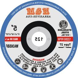 """5"""" x 1/16"""" x 7/8"""" CUT-OFF WHEELS for Stainless Steel &.Metal"""