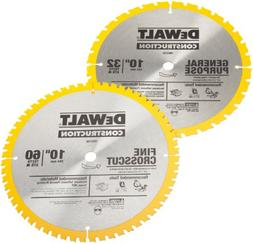 DEWALT DW3106P5 60-Tooth Crosscutting and 32-Tooth General P