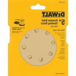 DEWALT DW4306 5-Inch 8 Hole 220 Grit Hook and Loop Random Or