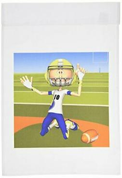 3dRose fl_58817_1 Football Number 5 Garden Flag, 12 by 18-In